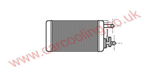 Heater Matrix, Fiat Tempra, All cc, 1990-   (03/90-), All Man / Auto, vehicles with A/C, 246 - 157 - 42mm , [ 16FT300 ]