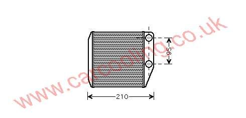 Heater Matrix, Fiat Grande Punto, All cc, 2005-   (10/05-), All Manual, vehicles with or without A/C, 160 - 185 - 27mm , [ 16FT313 ]
