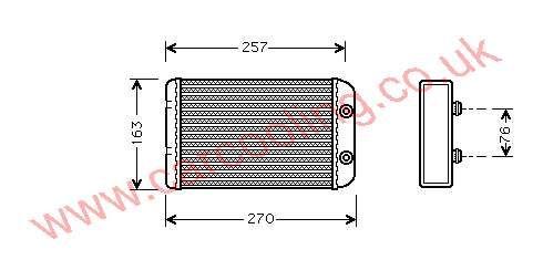 Heater Matrix, Fiat Stilo,   cc, 2001-   (10/01-), All Man / Auto, 220 - 156 - 32mm , [ 16FT321 ]