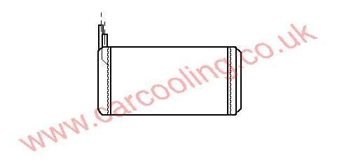 Heater Matrix, Fiat Croma II, All cc, 1988-   (10/88-), All Man / Auto, 280 - 156 - 42mm , [ 16LC300 ]